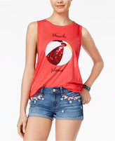 Freeze 24-7 Juniors' Sequined Beach Graphic Tank Top