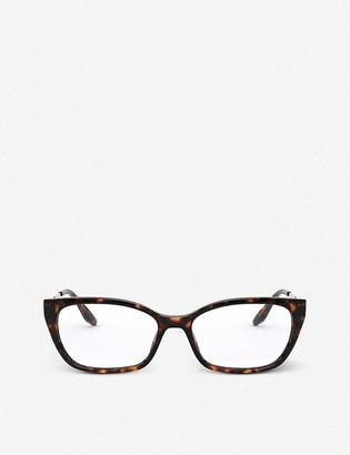 Prada PR 14XV acetate and metal cat-eye glasses
