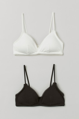 H&M 2-Pack Padded Jersey Bras