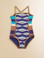Little Marc Jacobs Toddler's & Little Girl's Hayley Striped Maillot