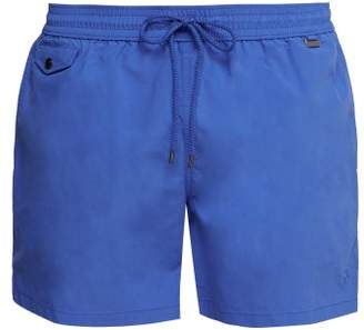 Polo Ralph Lauren Explorer Fit Logo Embroidered Swim Shorts - Mens - Mid Blue