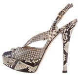 Fendi Zucca Snakeskin Sandals