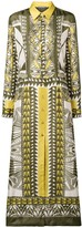 Alberta Ferretti printed maxi shirt dress