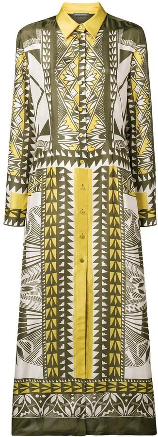 Alberta Ferretti printed maxi shirt dress