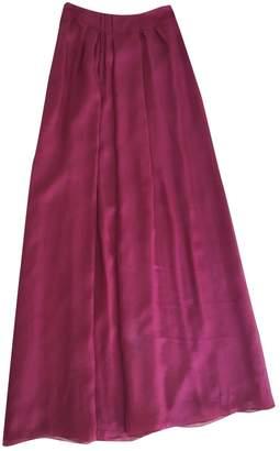 Philosophy di Alberta Ferretti Burgundy Silk Skirt for Women