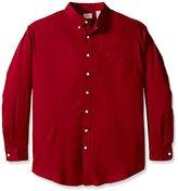 Dockers Big-Tall Long Sleeve Twill Solid Button Down Collar Shirt