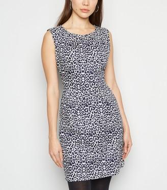 New Look Mela Leopard Print Tulip Dress