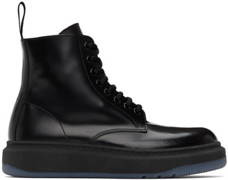 Paul Smith Black Renzo Lace-Up Boots