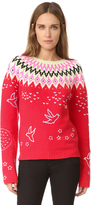 Nina Ricci Fair Isle Crew Neck Sweater