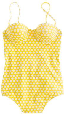 J.Crew Graphic dot underwire tank