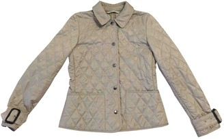 Burberry Beige Polyester Leather jackets