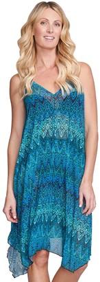 Women's Mazu Swim Printed Flowy Mesh Tank Dress Coverup