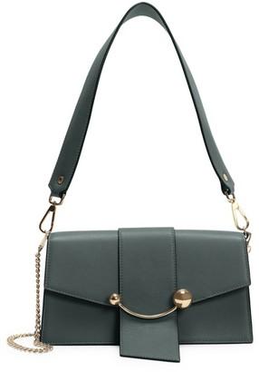 Strathberry Mini Crescent Leather Shoulder Bag