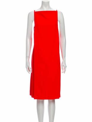 Alexander Wang Bateau Neckline Midi Length Dress w/ Tags Red