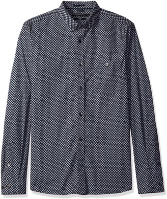 French Connection Men's Stretch Paisley Shirt