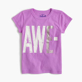 "J.Crew Girls' ""awesome"" T-shirt"
