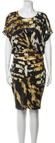 Thumbnail for your product : Blumarine Printed Knee-Length Dress Black