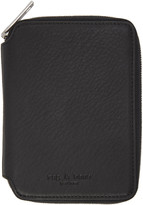 Rag & Bone Black Small Zip Around Wallet