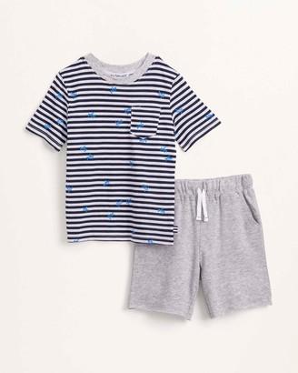 Splendid Little Boy Turtle Stripe Top and Short Set