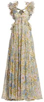Zimmermann Super 8 Ruffle Silk Gown