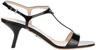Prada Logo Plaque T-Bar Sandals