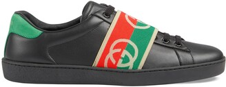Gucci Men's Ace sneaker with elastic Web