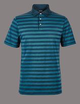 Autograph Pure Cotton Striped Polo Shirt