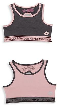 Betsey Johnson Girl's 2-Pack Stretch-Cotton Sports Bras