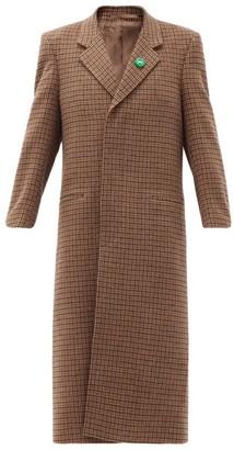 Martine Rose Rex Bottle-cap Single-breasted Wool-tweed Coat - Brown