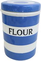 One Kings Lane Vintage English Cornishware Flour Canister