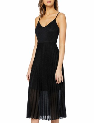 New Look Women's GO SHIMMER PLEAT MIDI DRESS Casual
