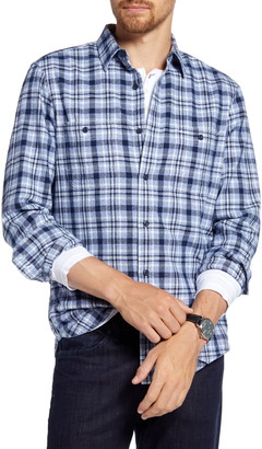 1901 Trim Fit Plaid Flannel Button-Up Shirt