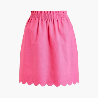 J.Crew Scalloped sidewalk skirt