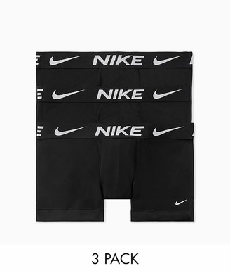 Nike 3 pack microfiber boxer briefs in black