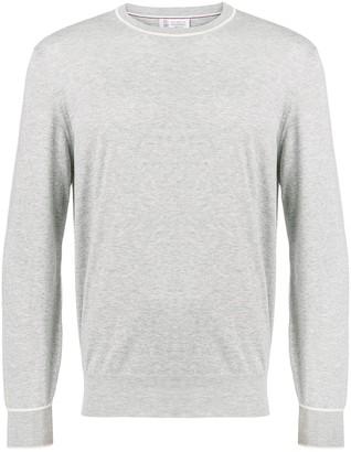 Brunello Cucinelli Round Neck Fine Knit Sweater