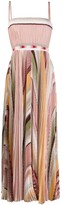 Missoni pleated striped maxi dress