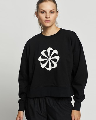 Nike Women's Black Crew Necks - Dri-FIT Icon Clash Training Crew - Size XS at The Iconic