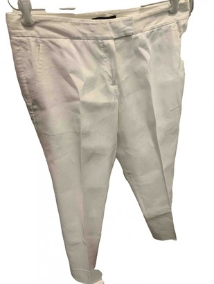 Theory White Linen Trousers
