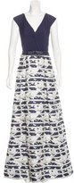 Teri Jon Sleeveless Jacquard Gown w/ Tags