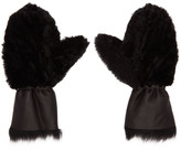 Yves Salomon Black Merinillo and Toscana Shearling Mittens