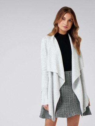 Forever New Kendra Tie Sleeve Cardigan - Iced Grey - m