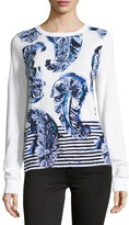 Tommy Bahama Pyrmont Paisley-Print Pullover Sweater, White Pattern