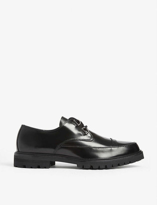 The Kooples D-ring patent leather Derby shoes