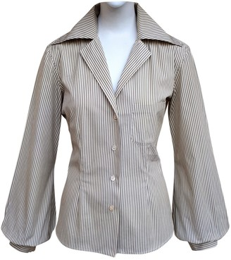 Romeo Gigli Grey Cotton Top for Women Vintage