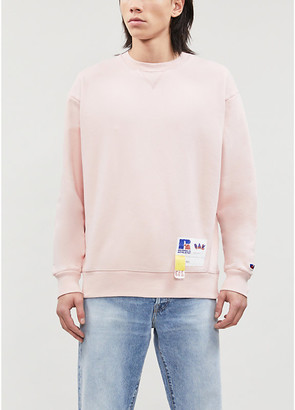 Russell Athletic Logo-patch organic-cotton jersey sweatshirt
