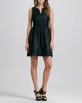 4.collective Split-Neck Jacquard Dress
