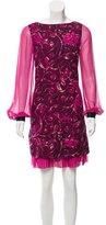 Tory Burch Wool & Silk-Blend Mini Dress