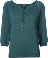 Vanessa Seward drwastring neck blouse