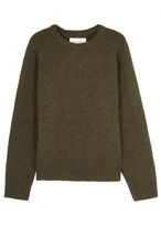 Our Legacy Olive Wool And Alpaca Blend Jumper