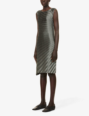 Issey Miyake Pleated sleeveless woven midi dress
